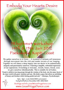 5Rhythms Dance workshop with Geash, Paekakariki, Kapiti Coast, NZ