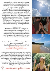 5Rhythms dance Retreat with Geash, Prana Coromandel, 27th-30th Jan 2012