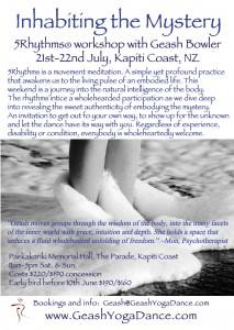5Rhythms dance workshop with Geash Bowler